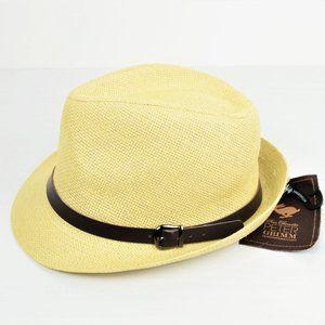 NWT Men's PETER GRIMM Natural Marcus Fedora Hat